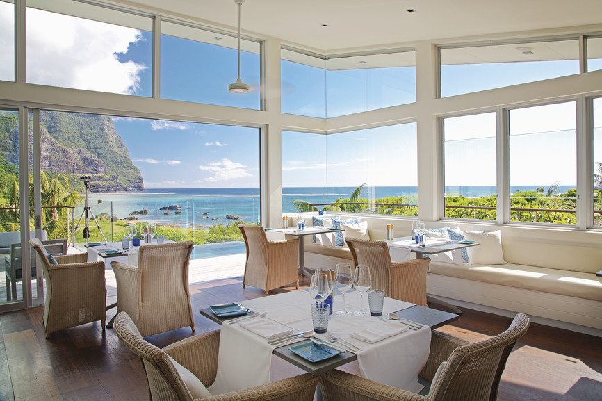 Dining at Capella Lodge, Lord Howe Island, NSW