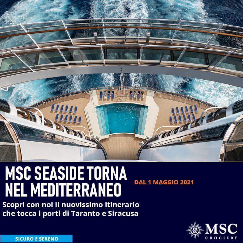 msc seaside torna nel mediterraneo crociere e vacanze in sicurezza